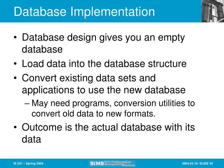 Database Implementation