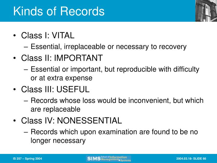 Kinds of Records