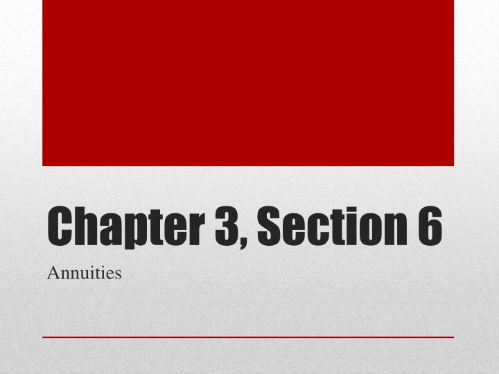 Chapter 3, Section 6