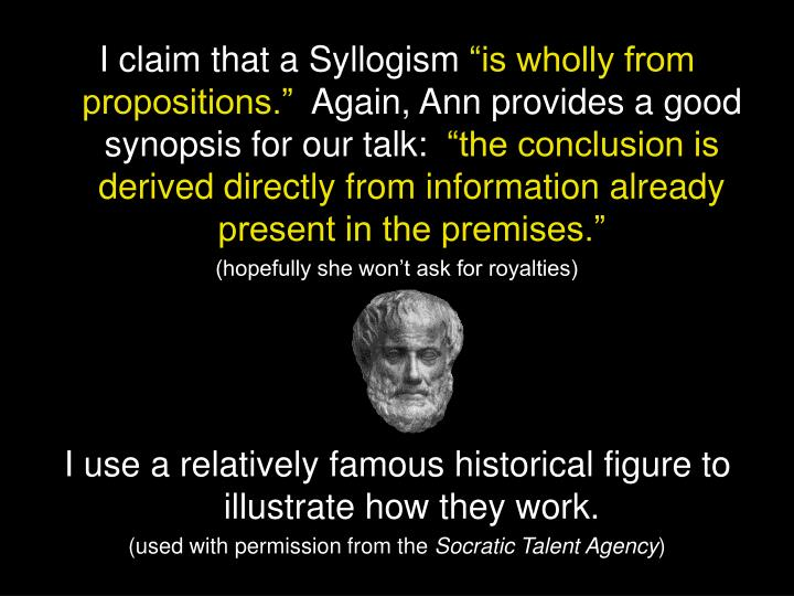 I claim that a Syllogism