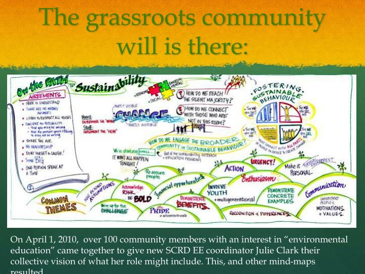 The grassroots community will is there: