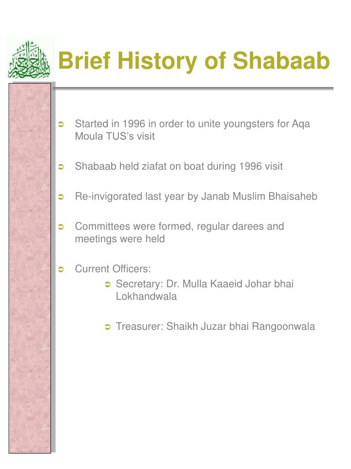 Brief History of Shabaab