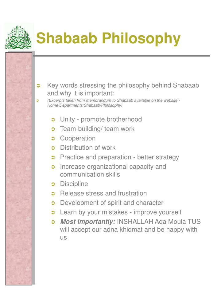 Shabaab Philosophy