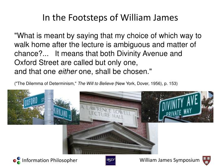 """What is meant by saying that my choice of which way to walk home after the lecture is ambiguous and matter of chance?...   It means that both Divinity Avenue and Oxford Street are called but only one,"