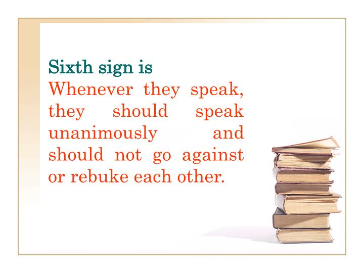 Sixth sign is