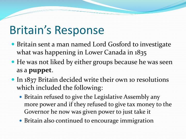 Britain's Response