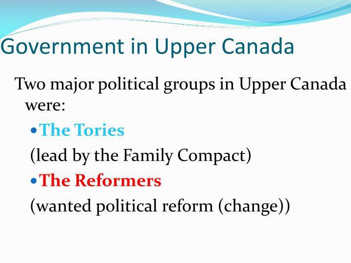 Government in Upper Canada