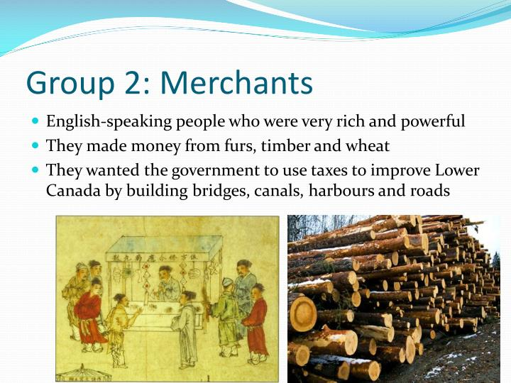 Group 2: Merchants
