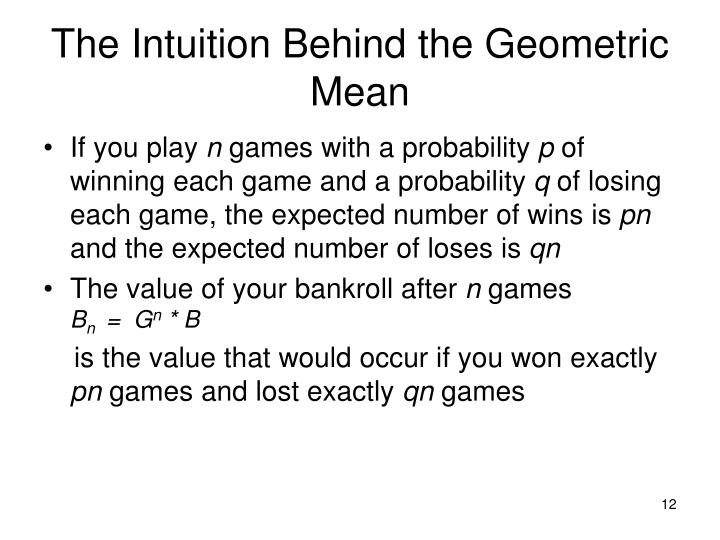 The Intuition Behind the Geometric Mean