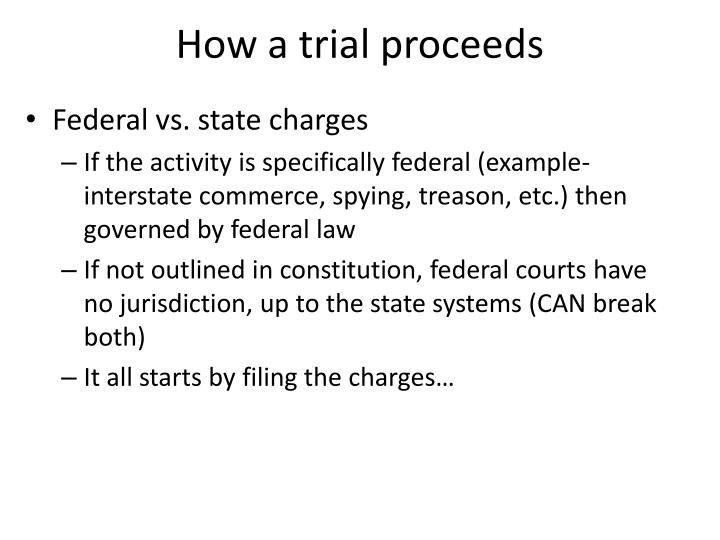 How a trial proceeds