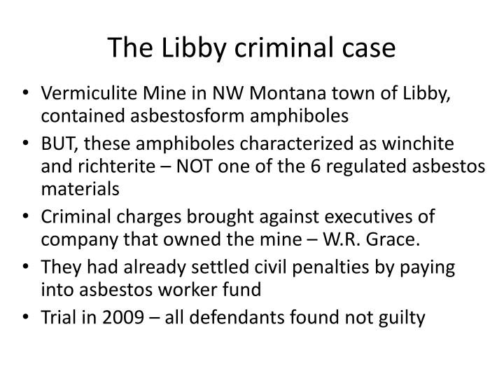 The Libby criminal case