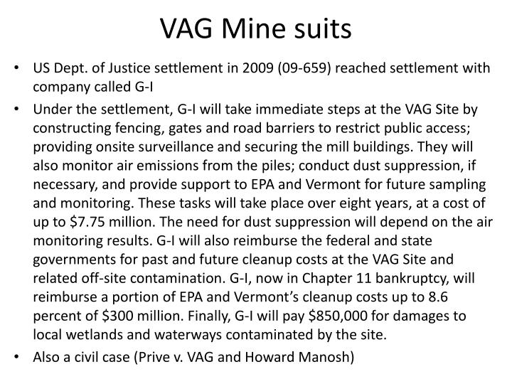 VAG Mine suits