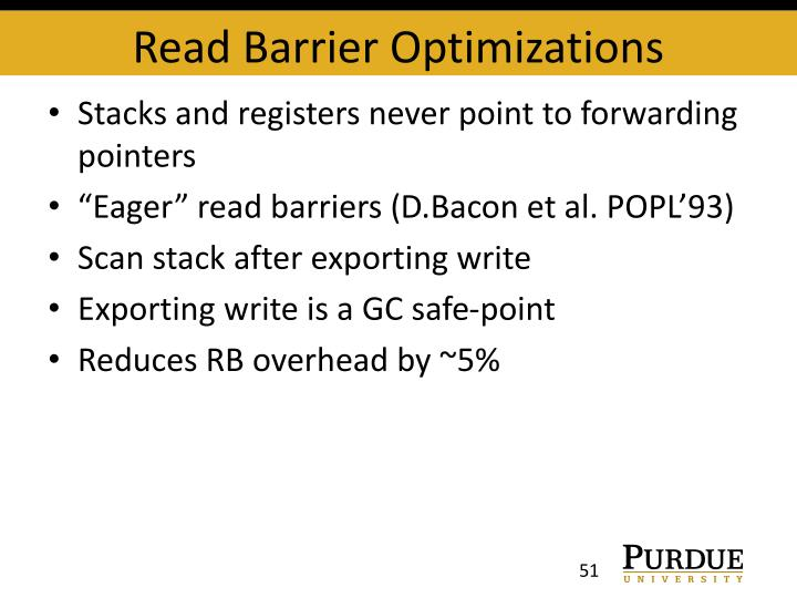Read Barrier Optimizations
