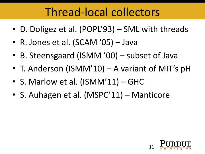 Thread-local collectors