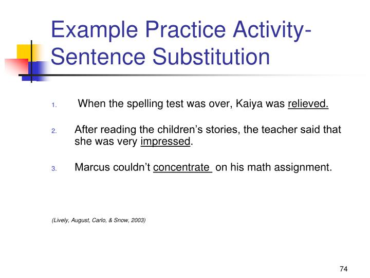 Example Practice Activity-