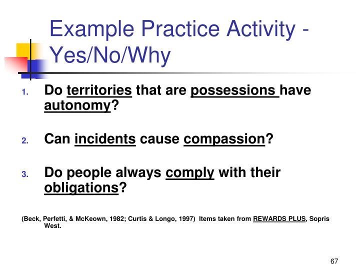 Example Practice Activity -