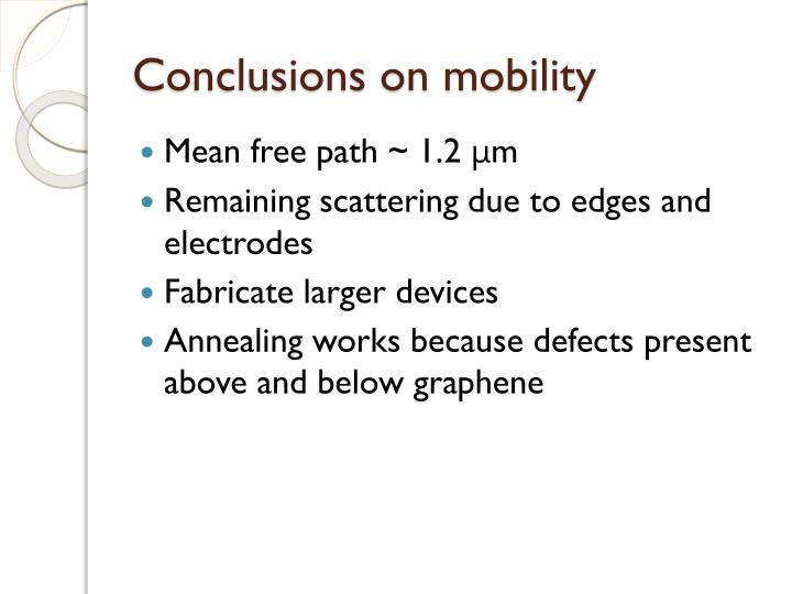 Conclusions on mobility
