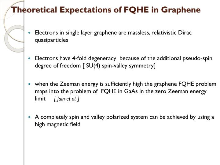 Theoretical Expectations of FQHE in