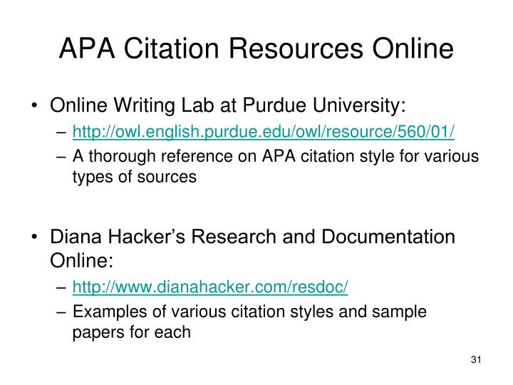 site internet reference for research paper