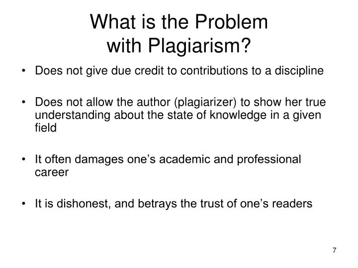plagiarism and its effect on academic Defining plagiarism, academic dishonesty defining plagiarism plagiarize: v tr – 1 to use and pass off as one's own (the ideas or writings of another) 2 to.