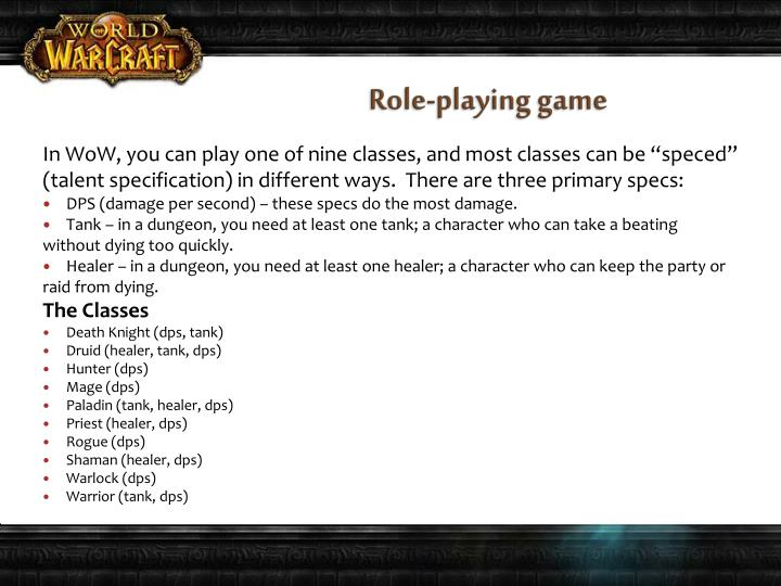 Role-playing game