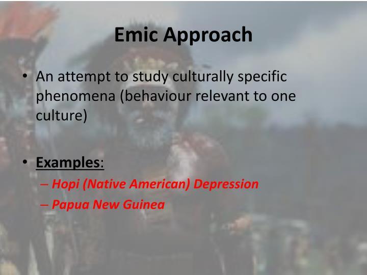 Emic Approach