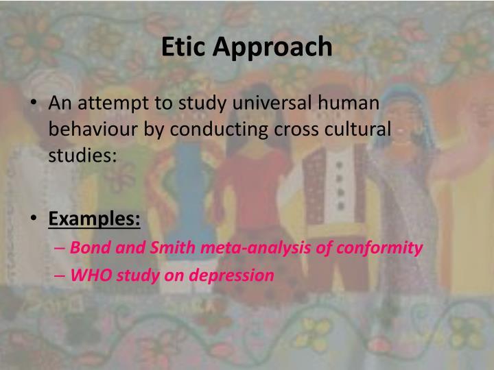 Etic Approach