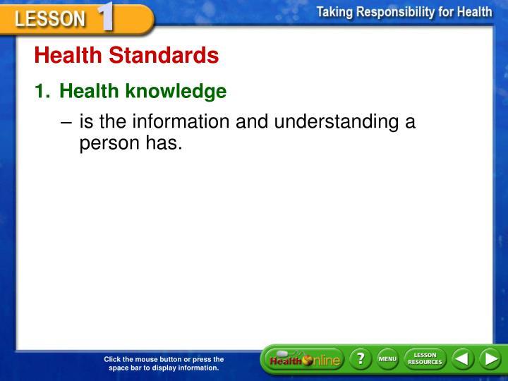 Health Standards
