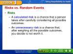 risks vs random events