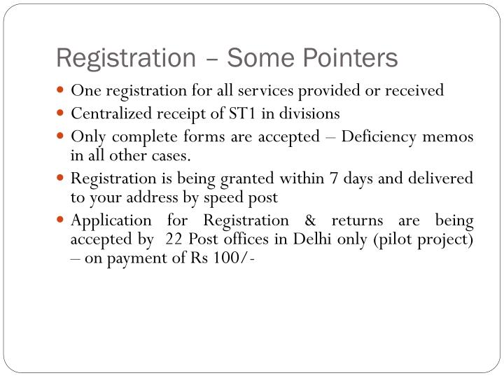 Registration – Some Pointers