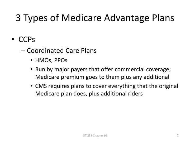 3 Types of Medicare Advantage Plans