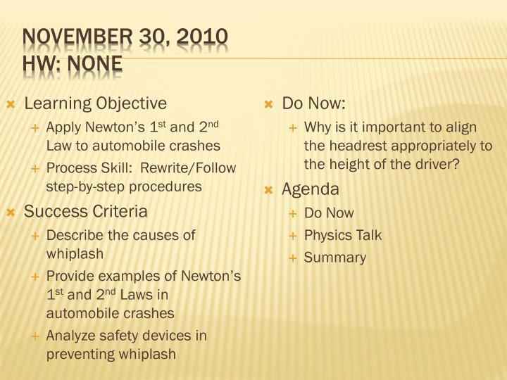 November 30, 2010
