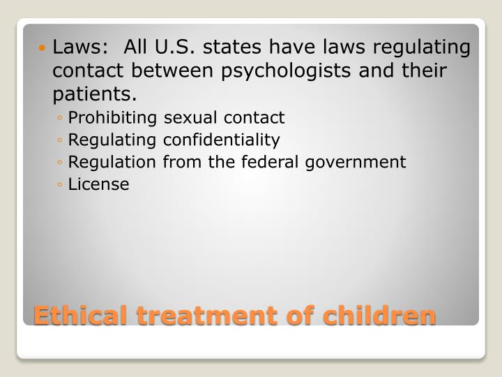 Ethical treatment of children