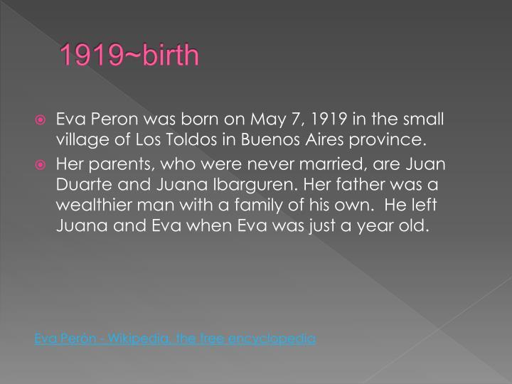 1919~birth