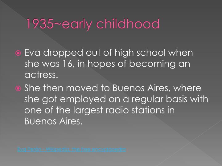 1935~early childhood
