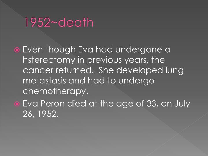 1952~death
