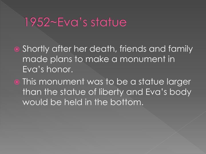 1952~Eva's statue