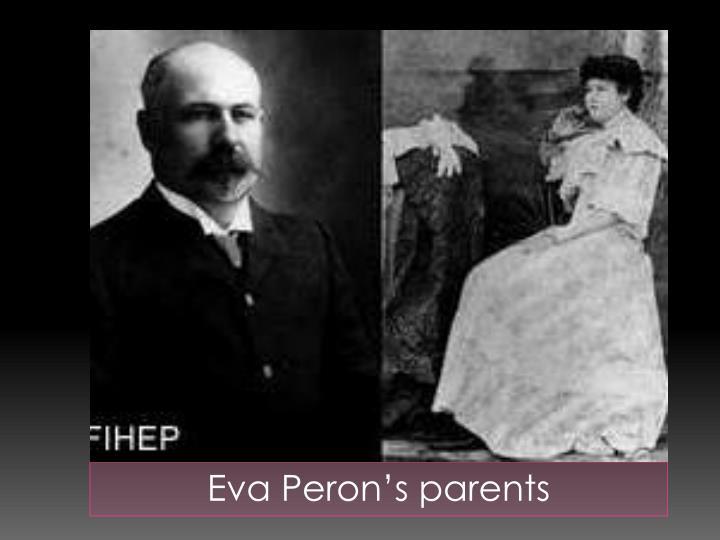 Eva Peron's parents