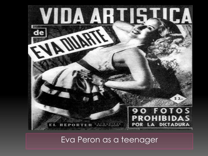 Eva Peron as a teenager