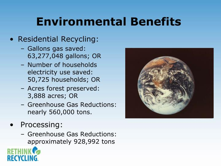 Environmental Benefits