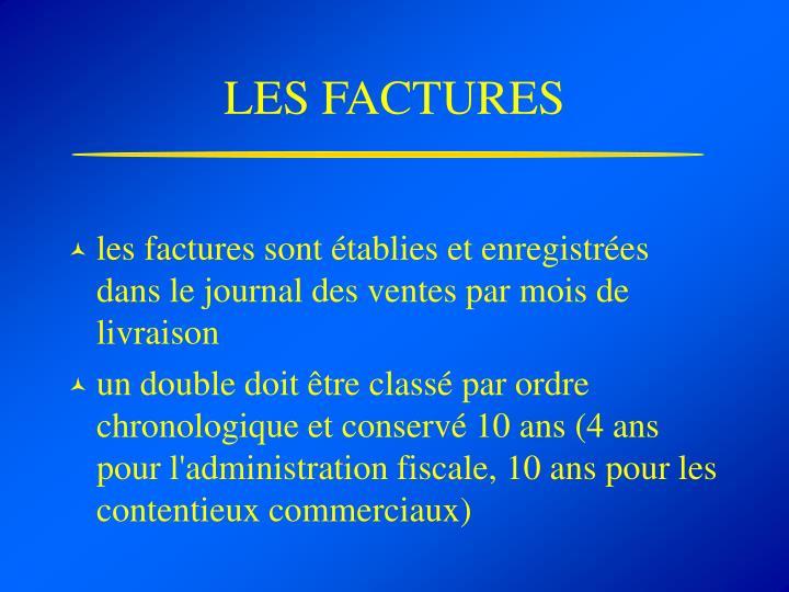 LES FACTURES