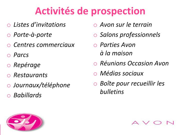 Activités de prospection