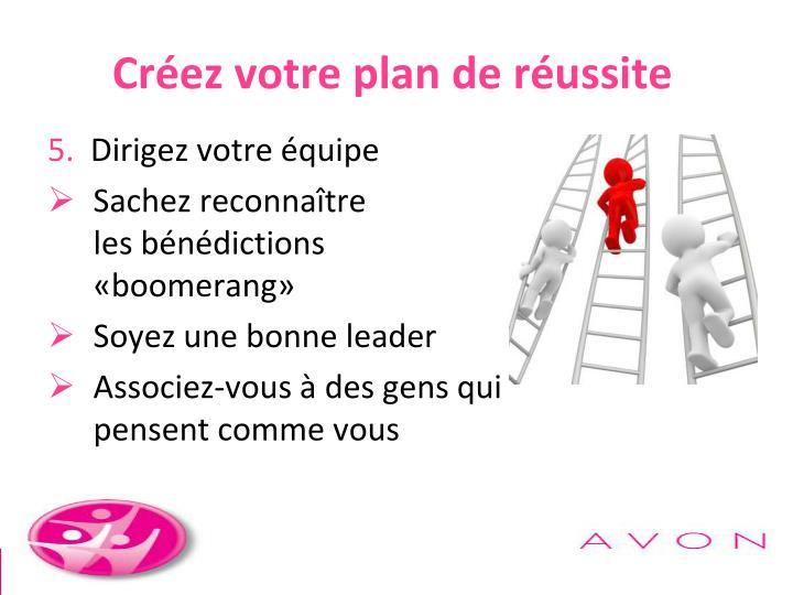Créez votre plan de réussite