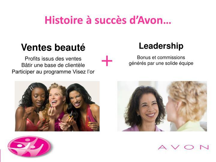 Histoire à succès d'Avon…