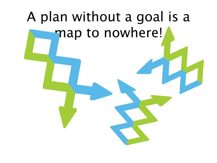 A plan without a goal is a map to nowhere!