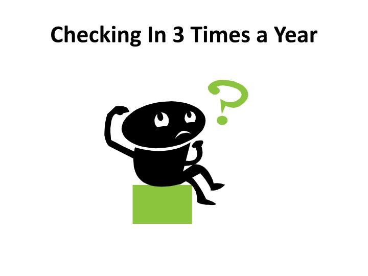 Checking In 3 Times a Year