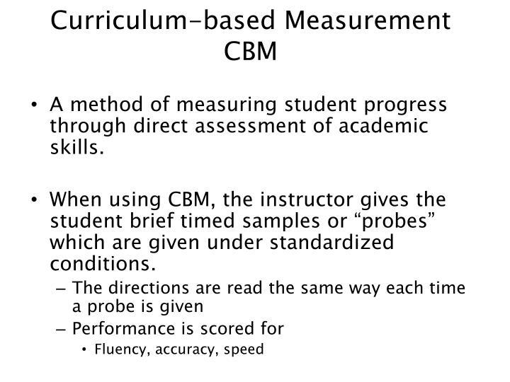 Curriculum-based Measurement