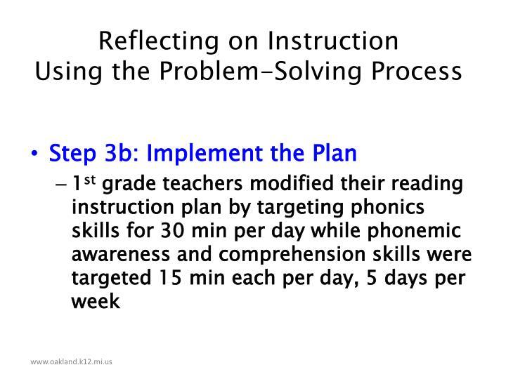 Reflecting on Instruction