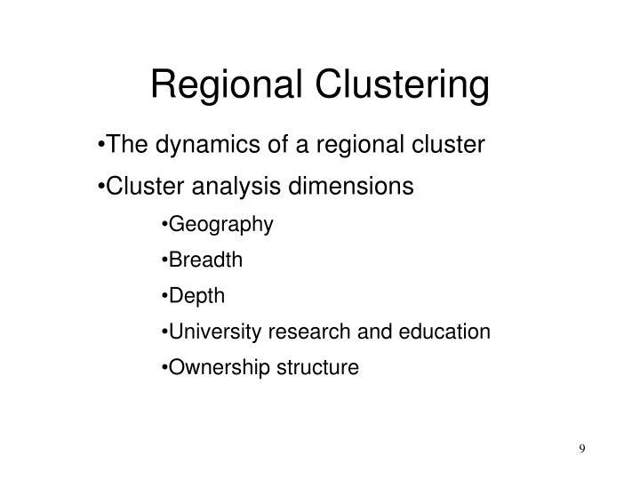 Regional Clustering
