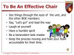 to be an effective chair2
